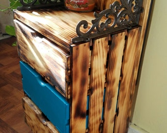 3 Drawer  Decorative Chest (Crate
