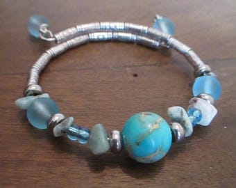 Bracelet colors of summer Jasper aqua terra and larimard.