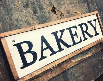 Rustic Bakery Sign Vintage Bakery Sign