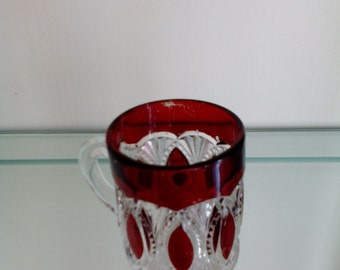 Ruby Stained Glass - Cup/Mug - Border Ellipse