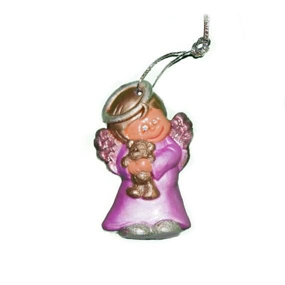 Angel With Teddy Bear Tree Ornament