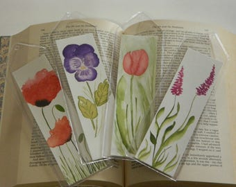 Abstract Watercolor Hand Painted Bookmarks