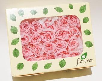 Pink Preserved Micro rose flower, dried fresh flower, Rose Flower DIY Gift, Yellow rose, wedding flowers