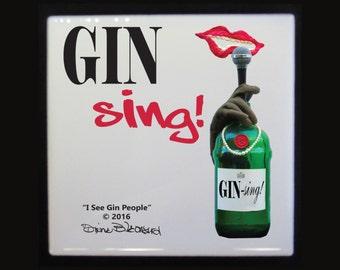 Gin-Sing! tile coaster