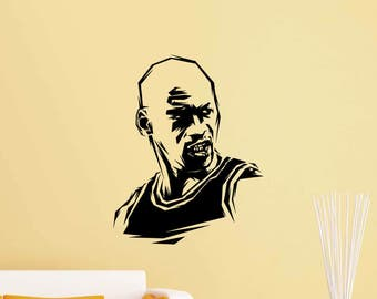 Michael Jordan Wall Decal Air 23 Basketball Sport Gym Vinyl Sticker Home  Boy Bedroom Decor Nursery Part 56