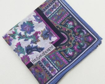FREE SHIPPING!!! Yves Saint Laurent YSL Classic Hanky Handkerchief