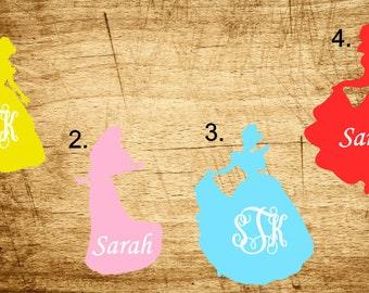 Disney Princess Monogram Decal