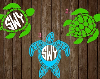 Sea Turtle Monograms