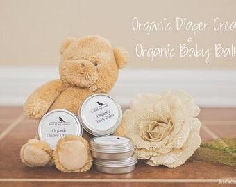 Organic Diaper Cream, Organic Baby Balm, Organic Baby
