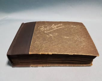 RARE Antique Book of 91 Postcards from 1908-1913