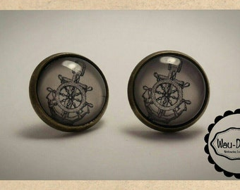 Maritime earrings cabochon