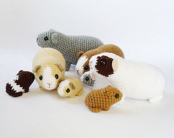 Adult Crochet Guinea Pigs