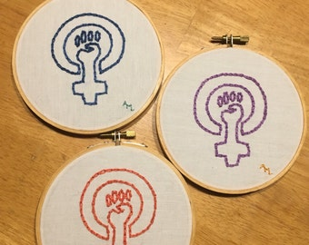 Feminism embroidery