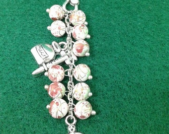 Doctor nurse medical glass bead Christmas Ornament