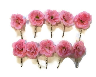 Wedding Flower Hair Clip | Silk Mini Rose