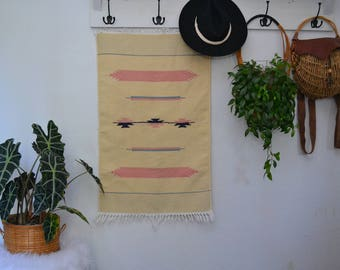 Vintage Woven Southwest Style Rug or Wall Hanging modern/bohemian/textile/decor