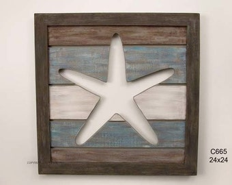Cut Out Slat Panel Starfish - C665