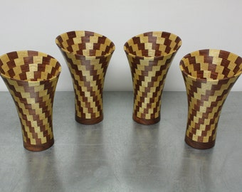 Segmented Wood Vase - Bubinga & Movingui