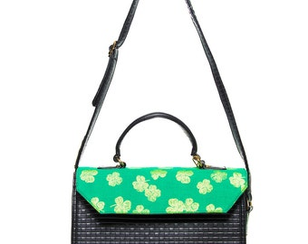 Green Mena Satchel Bag