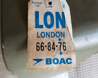 BOAC Luggage label 1970s