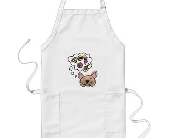 French Bulldog Apron - Frenchie Apron - Frenchie Kitchen - French Bulldog Stuff - Hungry Frenchie - French Bulldog Decor - Frenchie home