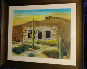Old Homestead Dove Mountain with Saguaros
