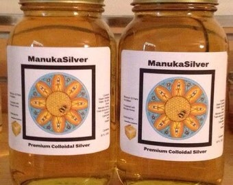 ManukaSilver Colloidal Silver 20 PPM Double Saver Pack