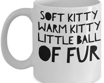 Big Bang Theory Mug - Soft Kitty Song - Funny and Sarcastic Coffee Cup - 2 sided - High Quality Ceramic