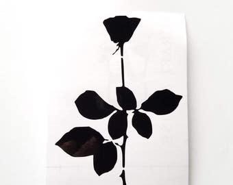 Depeche Mode Violator rose vinyl sticker