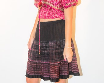 Skirt ethnic pleated