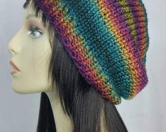 Rainbow Slouch Beanie