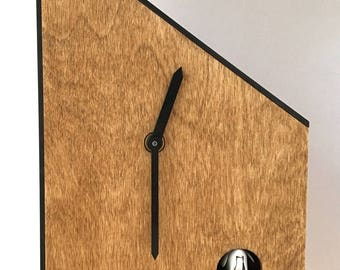 Emhaus Uhr - Modern Cuckoo Clock, Minimalist, Simple Design, Unique Wall Clock, Mid Century Modern