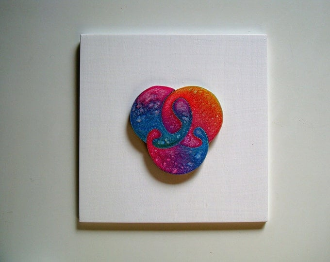 Puzzle HeART, Abstract Colorful, Love, Smart Toy, Healing Art, ADHD Toy, Wooden Handmade, Ready To Hang, Acrylic On Pieces by Samo Svete