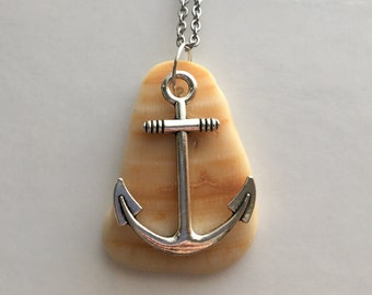 Gulf Coast Shell With Long Anchor Pendant