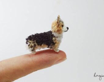 Tiny Pembroke Welsh Corgi crochet, Miniature crochet  Welsh Corgi, micro dog