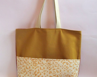 BAG TOTE yellow all over 04