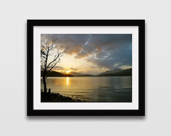 Loch Lomond Photography print // Scotland photography // Scottish print // Loch print // Travel photography // Wall art // Wall decor