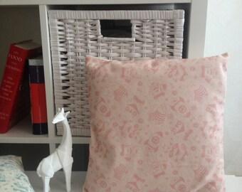 Animal pattern pillow. Chocolate pattern organic cotton pillow