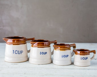 Vintage measuring cups set-Food Photography Prop