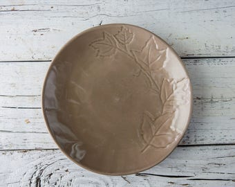 Brown Ceramic Plate-Food Photography Props
