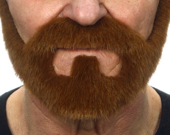 On bail chestnut beard and mustache (033-SI)