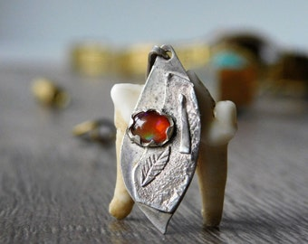 950 silver pendant with opal