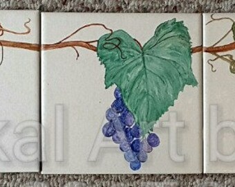 Grape Vine Ceramic Tiles