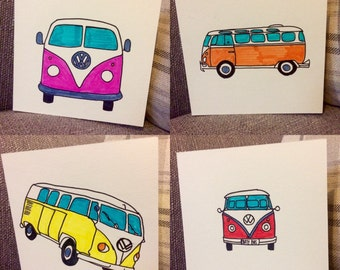 VW Campervan Cards - Blank Inside