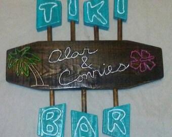Custom made 24x24 inch Retro Tiki Bar sign