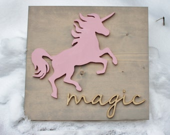 unicorn wall decor, wall decor, unicorn, nursery decor, kids room decor, playroom decor