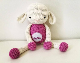 Personalized crochet sheep Gift toy