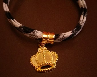 Vichy and charm bracelet Crown