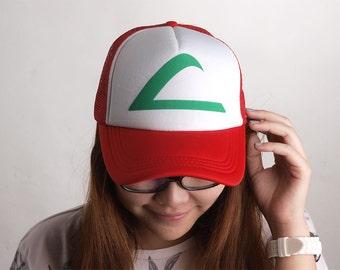 Trucker Cap Baseball Mesh Hat Snapback Cap Unisex Ash Ketchum Truc002