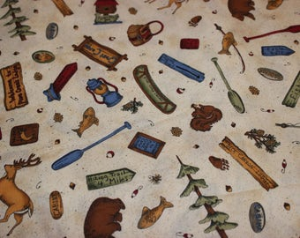 Retired fabric etsy for Fishing themed fabric